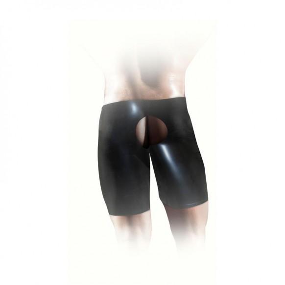 Pantalones cortos unisex de látex negros