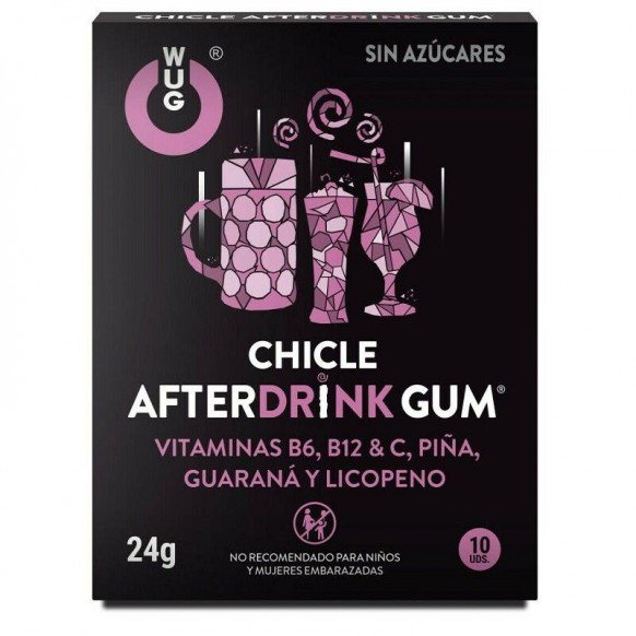 Chicle Wug Afterdrink Gum 10 Uds....